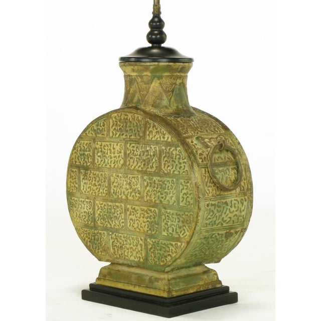 Pair Monumental Bronze Chinese Urn Table Lamps - Image 5 of 9