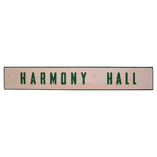 Harmony Hall Sign