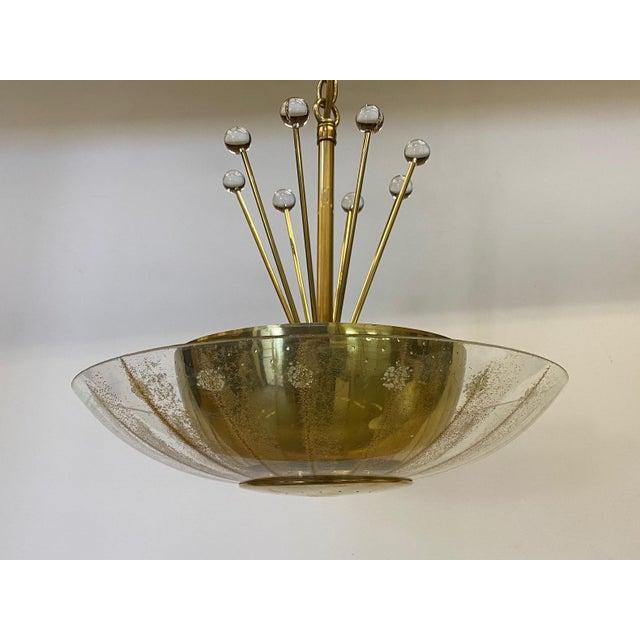 Mid-Century Modern Vintage Brass Sputnik Style Chandelier For Sale - Image 3 of 13