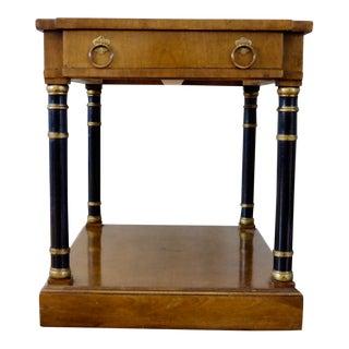 1960s Vintage Fine Arts Furniture Walnut Side Table For Sale