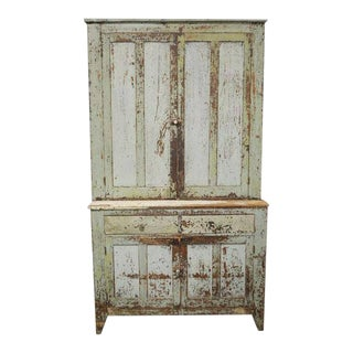 Antique Pennsylvania Farmhouse Step Back Cupboard