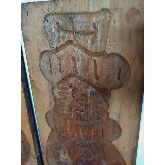 Mid-Century Modern Vintage Scandinavian Royalty Hand Carved Wood Molds - a Pair For Sale - Image 3 of 10