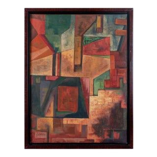 1930s Abstract Composition Painting by Frederick Kann For Sale