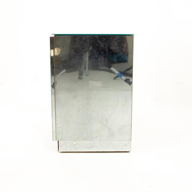 "Ello Mirrored Mid Century ""Skyscraper"" Nightstand - Pair For Sale - Image 11 of 13"