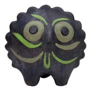 Vintage Artistic Pottery Owl Sculpture For Sale