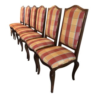 Guy Chaddock High Back Dining Room Chairs - Set of 6 For Sale