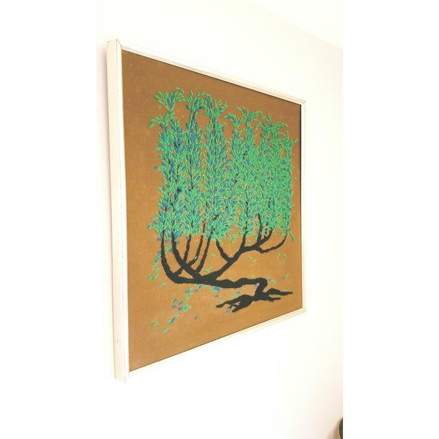 Vintage Framed Tree of Life Textile Art - Image 2 of 3