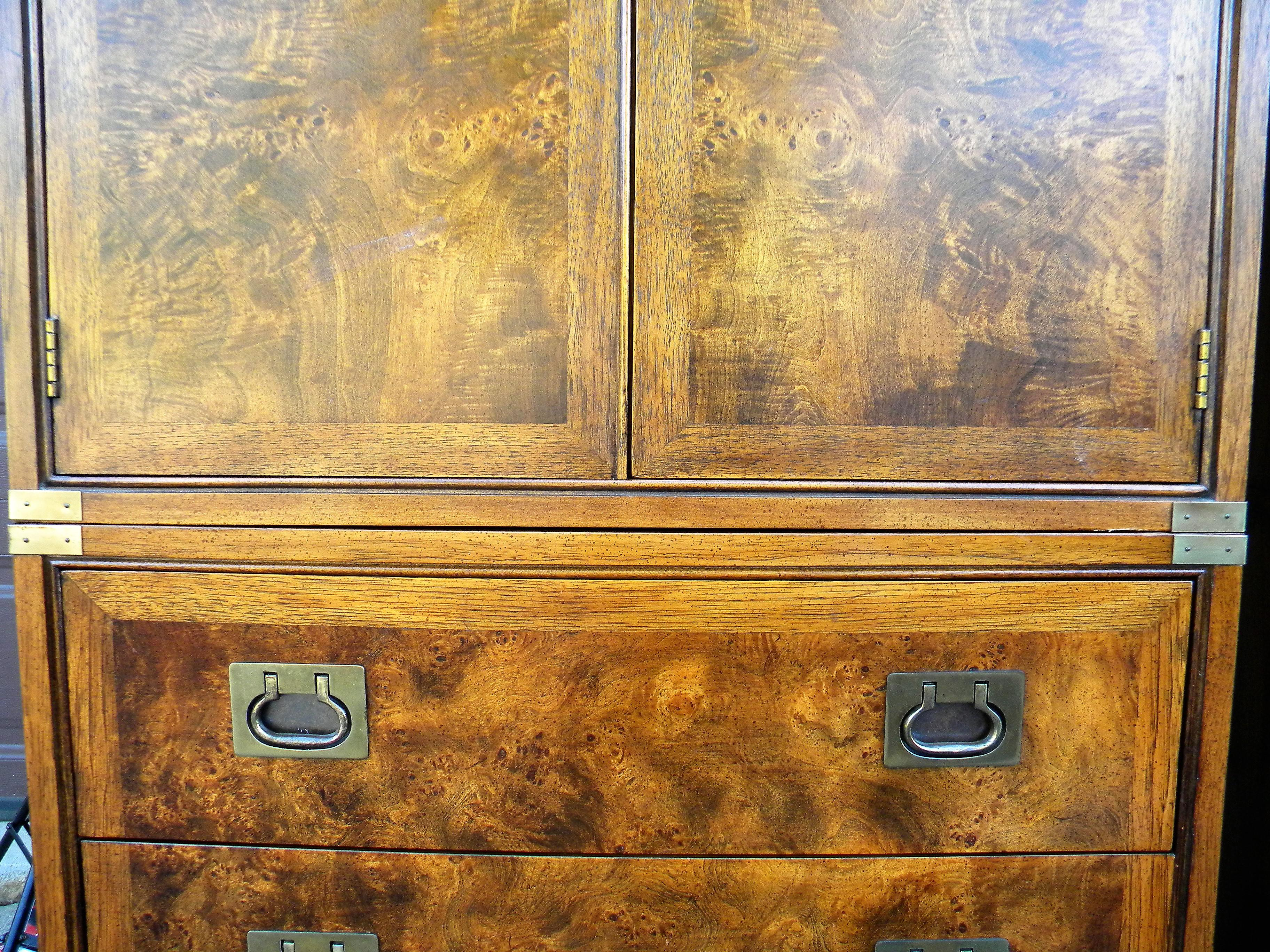 Hickory Furniture Company Campaign Cabinets   A Pair   Image 5 Of 9