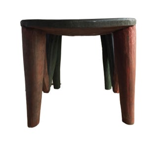 "African Lg Nupe Stool / Table Nigeria 15.75"" H by 23"" W Preview"