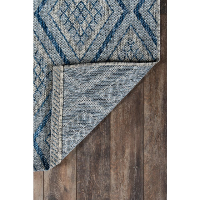 """2010s Madcap Cottage Lake Palace Rajastan Weekend Blue Indoor/Outdoor Area Rug 5'3"""" X 7'6"""" For Sale - Image 5 of 7"""
