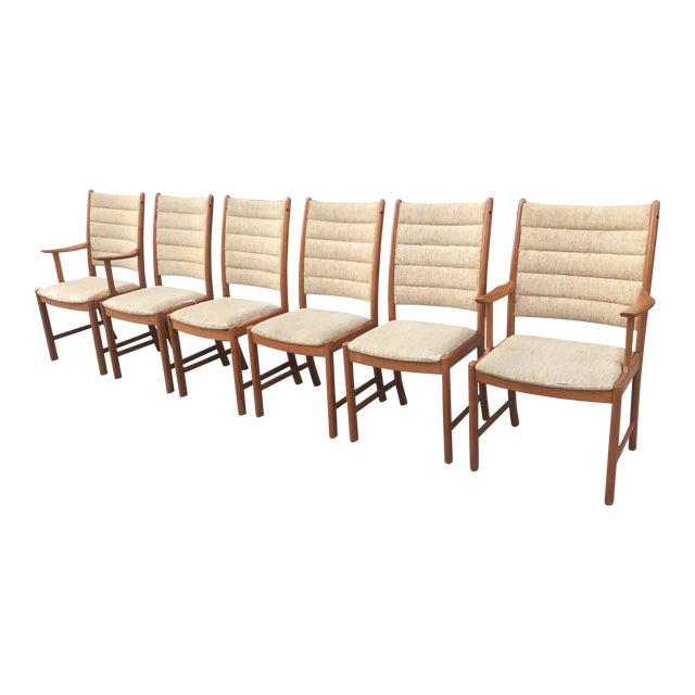 Danish Modern Teak Dining Chairs - Set of 6 - Image 1 of 11