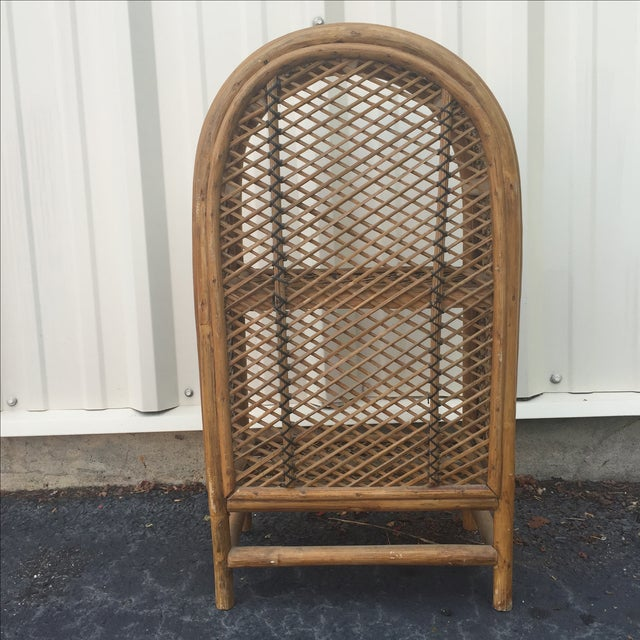 Vintage Rattan Shelf For Sale In New York - Image 6 of 8