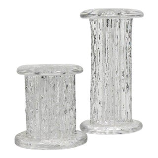Mid-Century Brutalist Style Vintage Candlestick Holders - a Pair For Sale