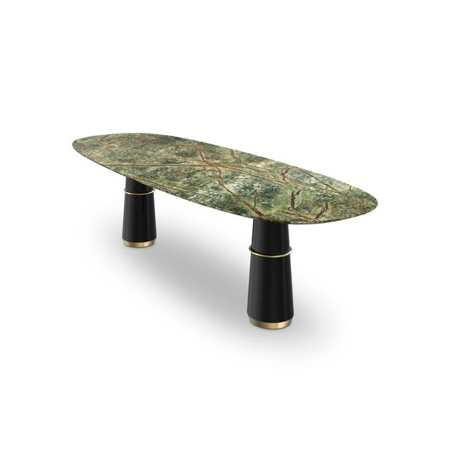 Modern Covet Paris Agra III Dining Table For Sale - Image 3 of 5