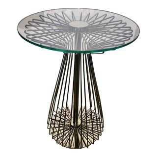 Contemporary Ethan Allen Radial Dial Italian Table For Sale