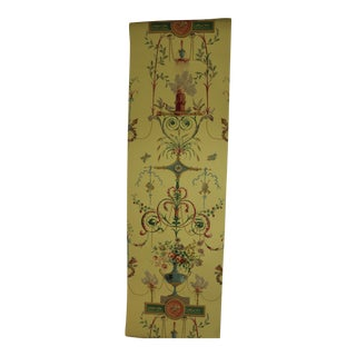 Schumacher 18th Century Traditional Terracina Arabesque in Color Jonquil Wallpaper 2 Double Rolls