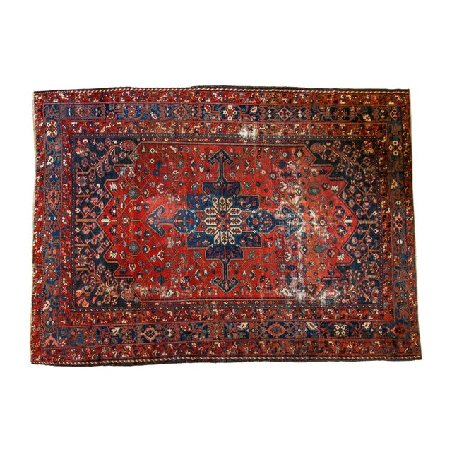 "Vintage Distressed Bakhtiari Carpet - 8'7"" X 11'8"" - Image 1 of 10"