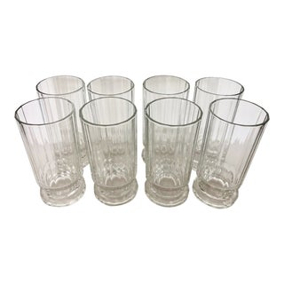 Eight Long Drink Glasses by Dansk France For Sale