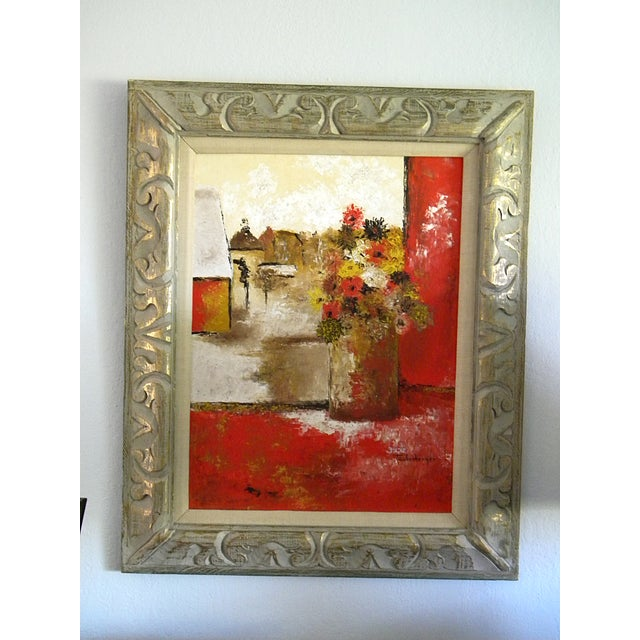 Large Mid-Century Still Life Signed Framed Painting For Sale - Image 10 of 10