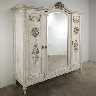 Antique French Louis XVI Painted Armoire Preview
