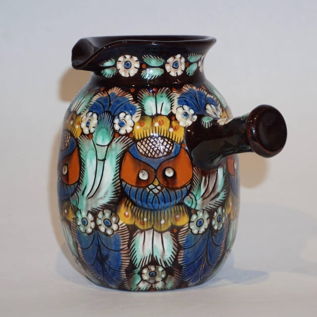 Antique Swiss Arts & Crafts Thoune Majolica Vase, Jug and Holder - 3 Pc. Set For Sale - Image 4 of 10