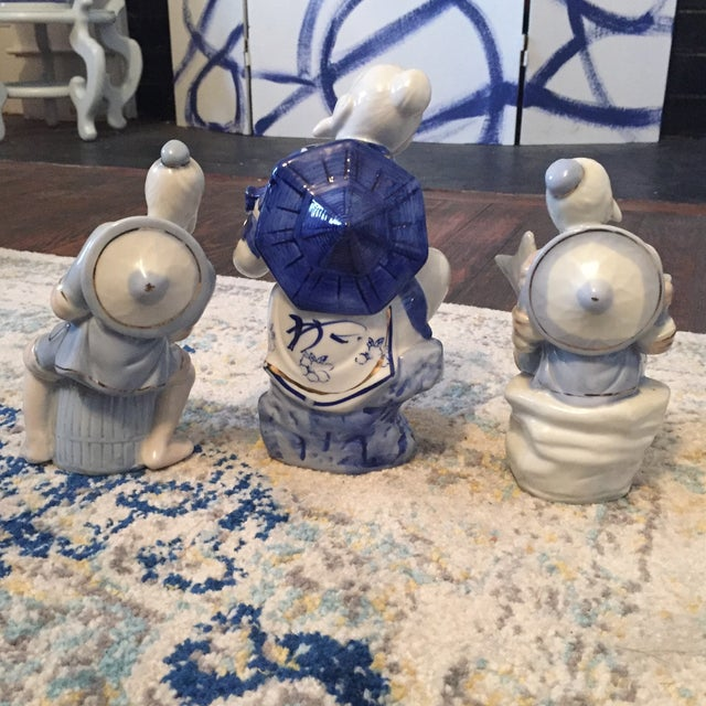 Chinoiserie Asian Man Fisherman Figurines - Set of 3 For Sale In Charlotte - Image 6 of 9