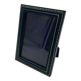 Charing Cross Calf English Leather Embossed Photo Frame For Sale