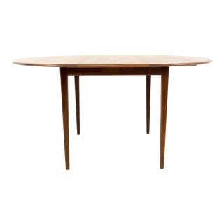 Mid Century Modern Round Oval Teak Dining Table For Sale