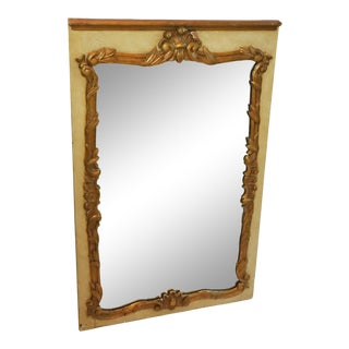 1930s French Painted and Gilt Gesso Waldorf Astoria Mirror For Sale