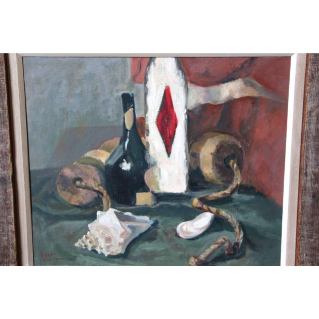 A wonderful still life by the noted Pennsylvania artist Eileen Goodman. It is signed lower left. Overfill package with the...