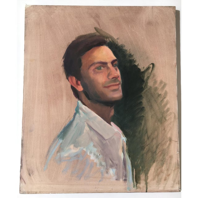 Vintage Oil Painting of a Man - Image 2 of 3