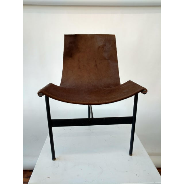 Metal and Leather Sling Zaha Chair - Image 5 of 5