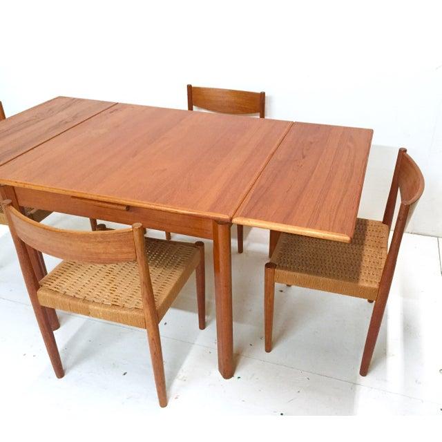 1960s Danish Mid-Century Modern Teak Dining Set - Image 6 of 11