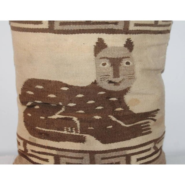 Folky Cat Indian Weaving Pillow - Image 1 of 3