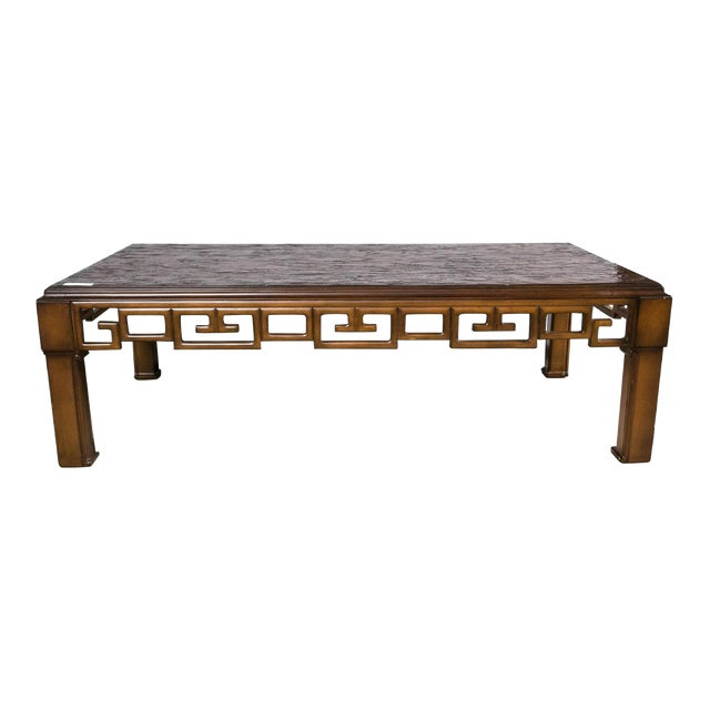 Asian Style and Greek Key Combo Cocktail Table For Sale