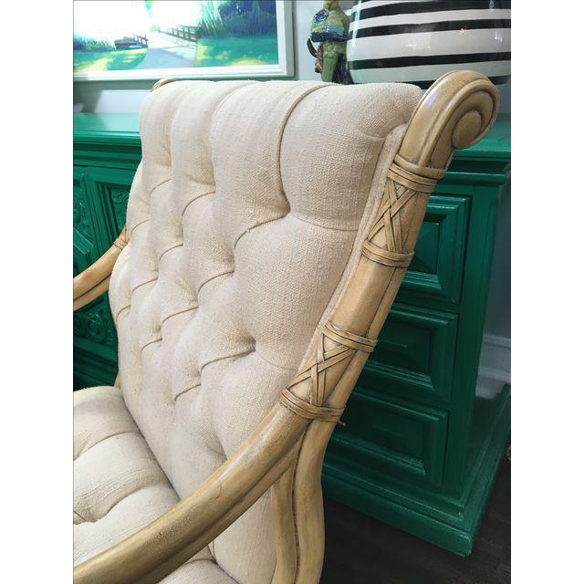Maitland Smith Bamboo Claw Foot Chairs - Pair - Image 3 of 9