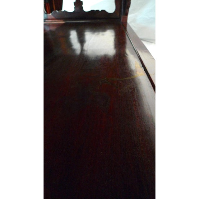 Early 20th Century Chinese Carved Rosewood Long Low Opium Coffee Table For Sale - Image 11 of 13