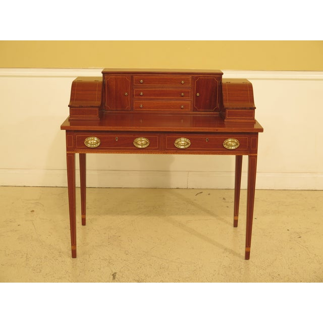 1960s Federal Kittinger Biggs Federal Inlaid Mahogany Ladies Writing Desk For Sale - Image 13 of 13