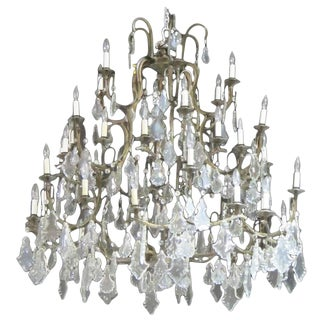 Palatial Crystal Chandelier From Le Bec Fin