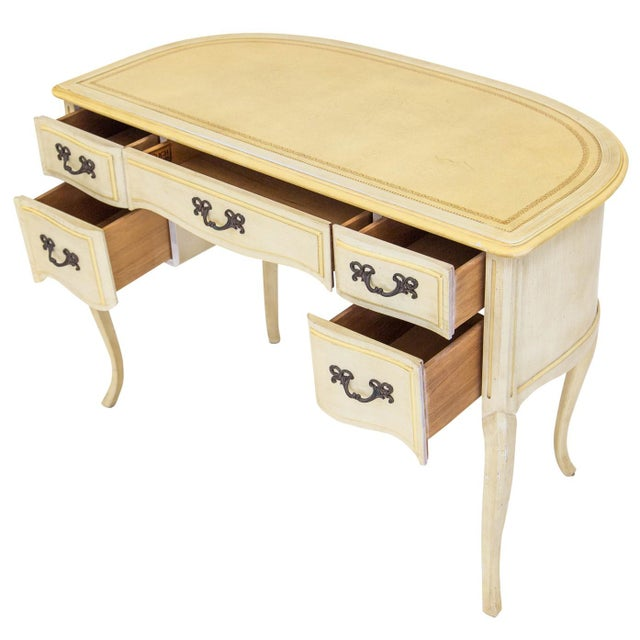 Demilune Desk W/ Leather Top by Sligh For Sale In Chicago - Image 6 of 11