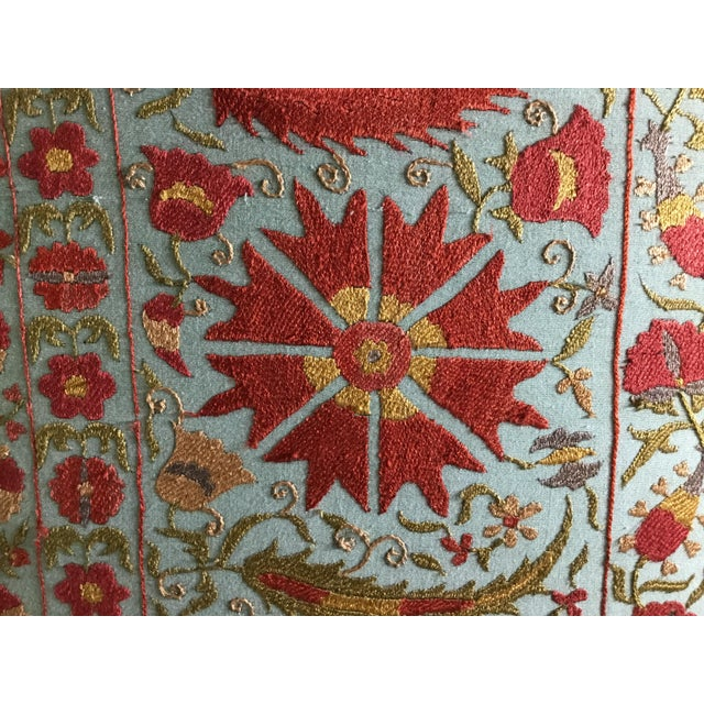 Vintage Hand Embroidery Suzani Screen For Sale - Image 9 of 13