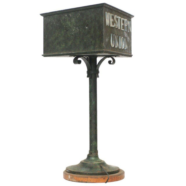 Rustic Western Union Countertop Lamp - Image 5 of 8