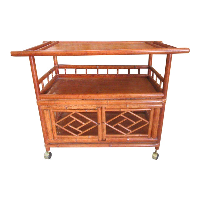 Tortoise Shell Bamboo Cart - Image 1 of 8
