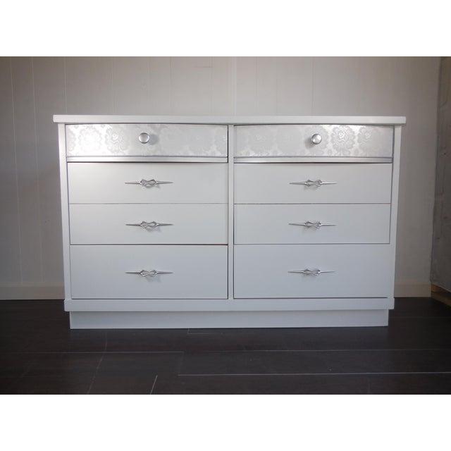 White Mid-Century Modern Dresser - Image 8 of 8