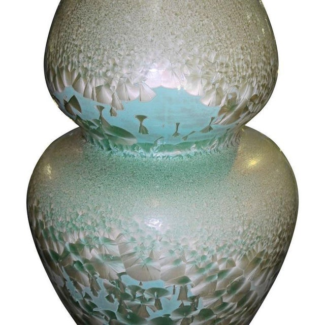Turquoise Set of Three Celadon Porcelain Floor Vases For Sale - Image 8 of 8