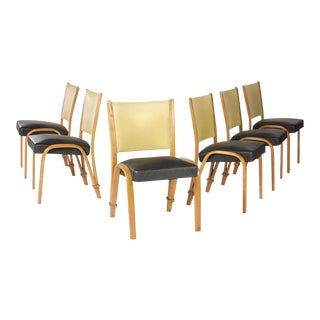 French Bow Wood Side Chairs - Set of 6 For Sale