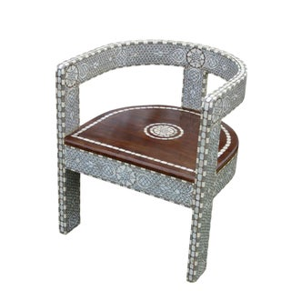 Syrian Mother of Pearl Inlay Chair For Sale