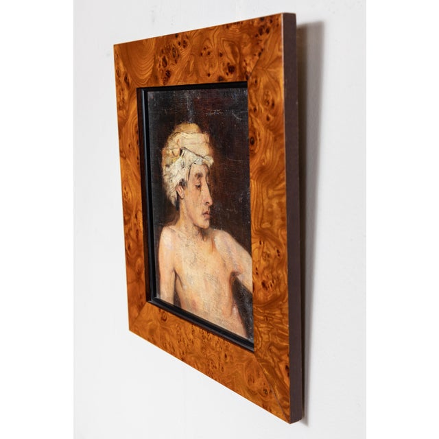 Mid 19th Century Portrait of a Man in Turban Oil Painting For Sale - Image 5 of 6