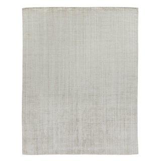 "Hamm Hand loom Wool/Viscose Light Beige Rug-6'x9"" For Sale"