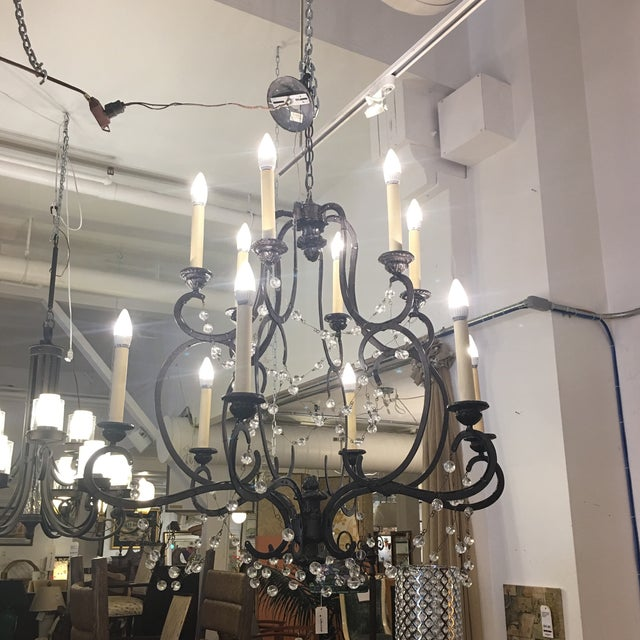 White Visual Comfort Niermann Weeks Lombary Double Tiered Chandelier For Sale - Image 8 of 11